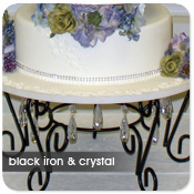 Black Iron and Crystal Cake Stand