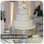 Deluxe Silver Round Cake Stand