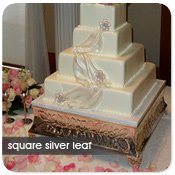 Square Silver Leaf Cake Stand