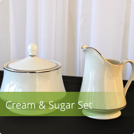 Cream & Sugar (White)