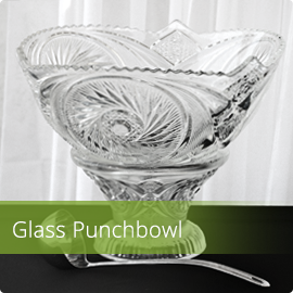 Glass Bowl w. Ladle