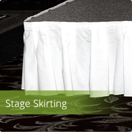 Fabric Stage Skirting