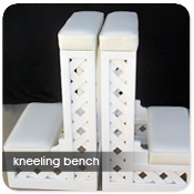 Wood Lattice Kneeling Bench