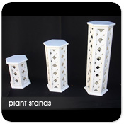 Wood Lattice Plant Stands