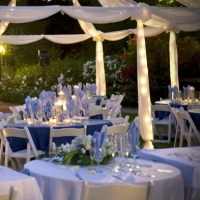 Twilight Table & Chairs with Fabric Draping