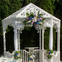 Gazebo with Floral Decor