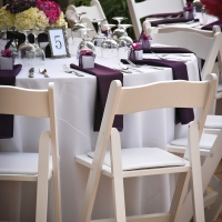 Haz White Wood Chair and Table Setting