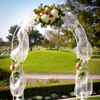 Haz Rental Center White Metal Arch