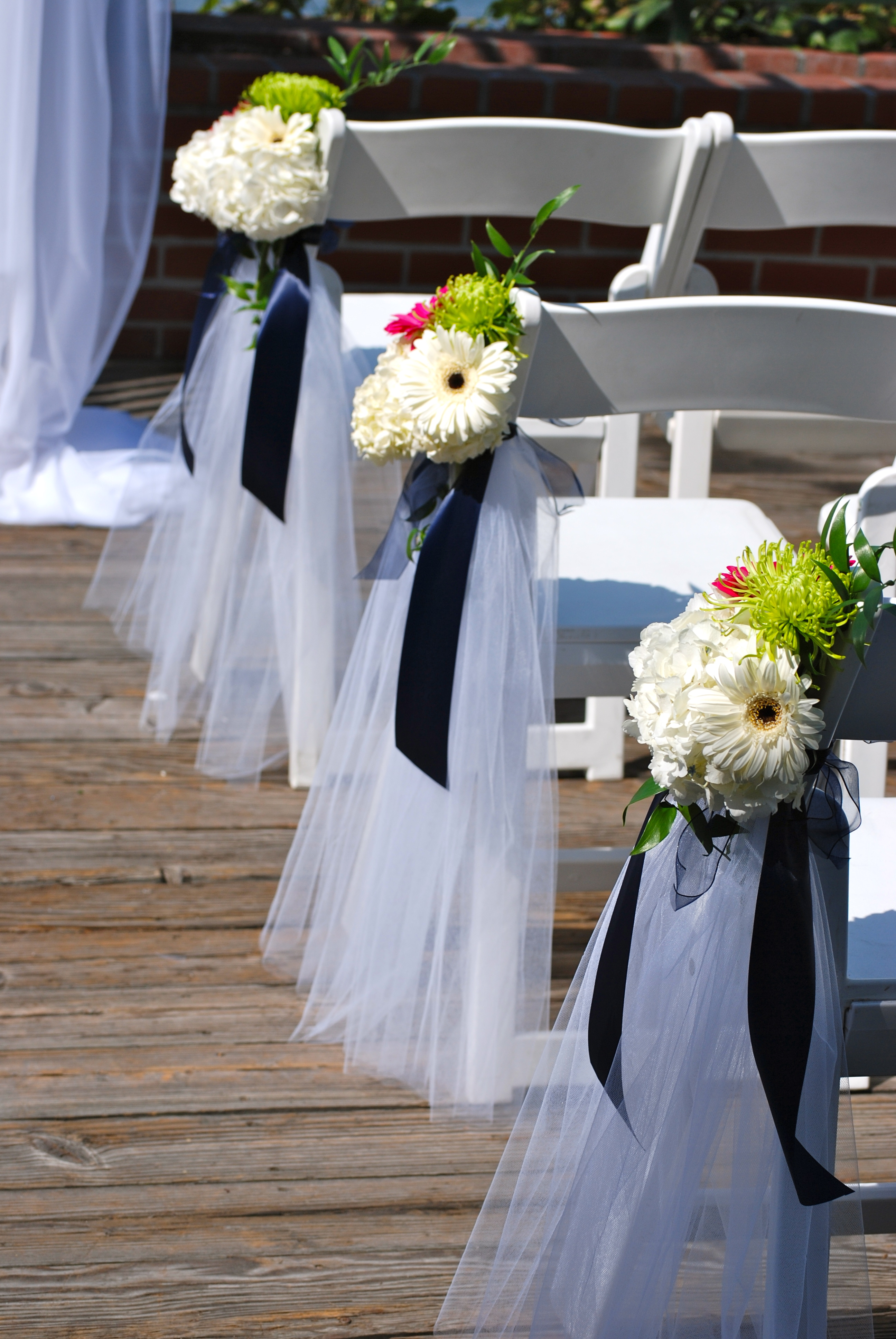 Haz White Wood Chair Florals