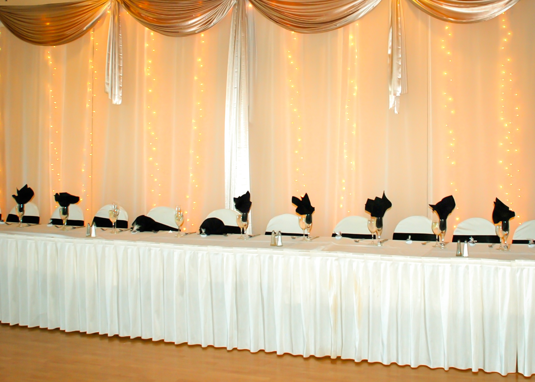 Haz Rental Center Wedding Party Seating