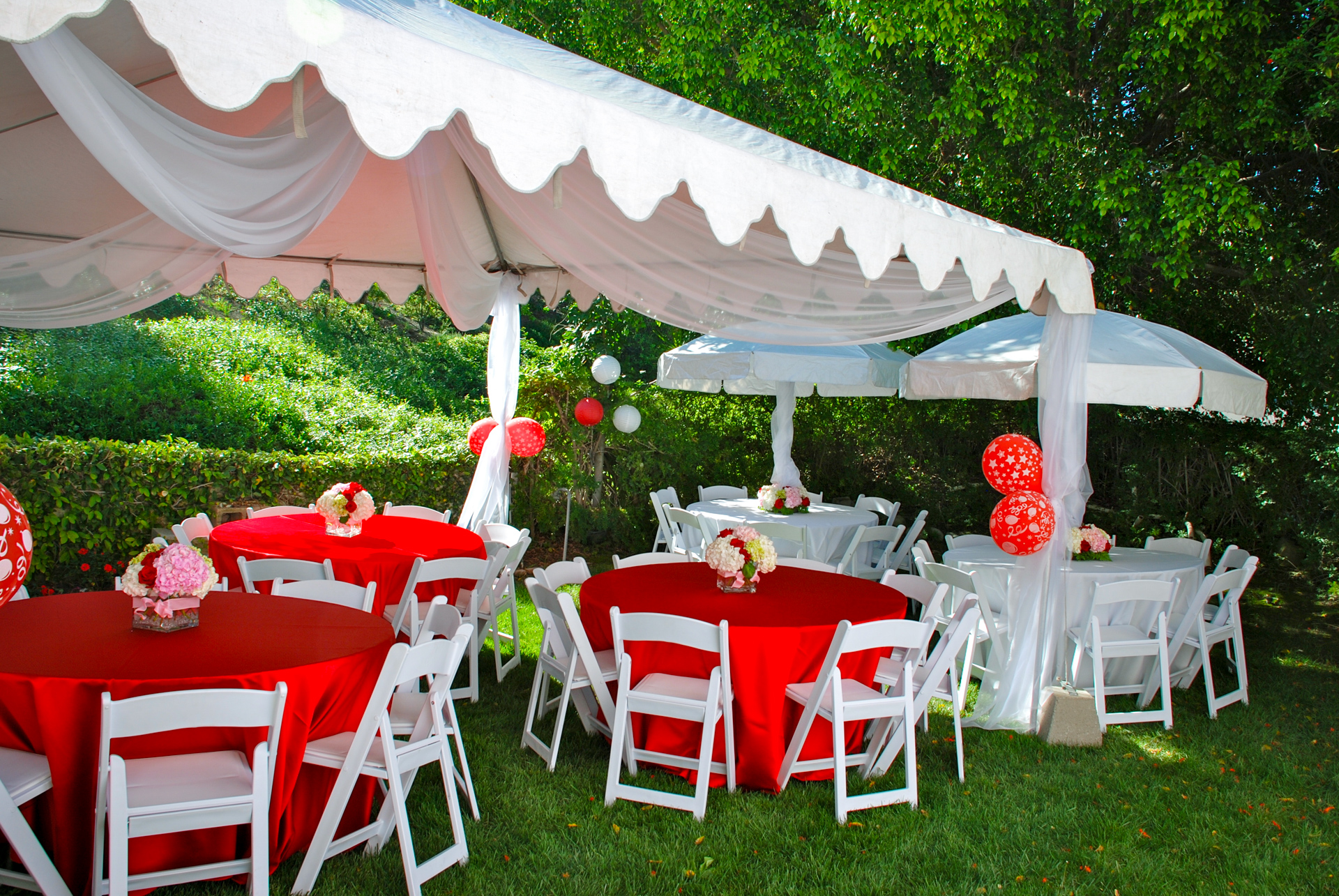 Haz Rental Center -  Garden Tents, Outdoor Seating