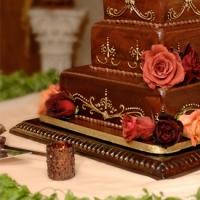 Bronzed Wood Cakestand